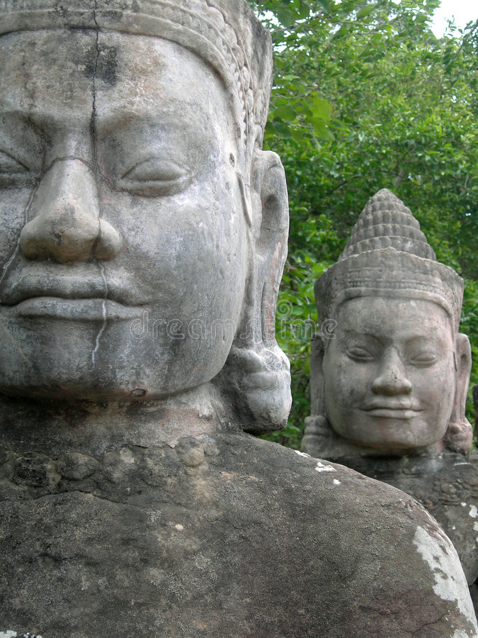 Caras de Angkor imagen de archivo