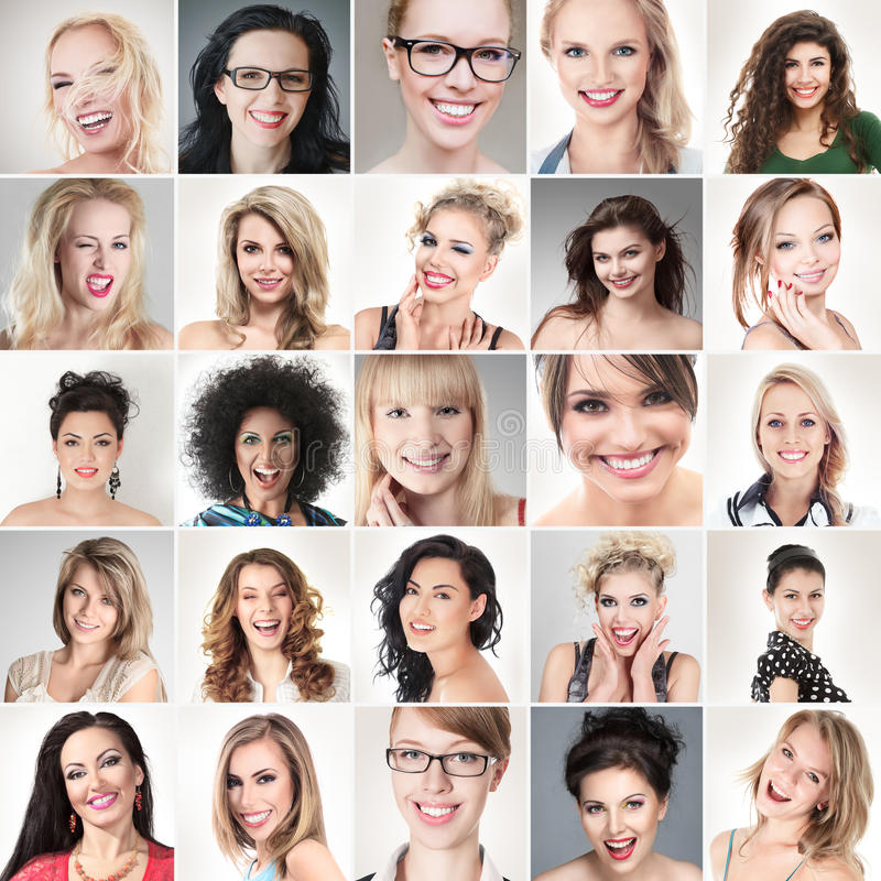 Caras de la gente fotos de archivo