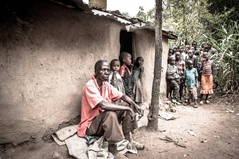 Caras de la pobreza fotografía de archivo libre de regalías