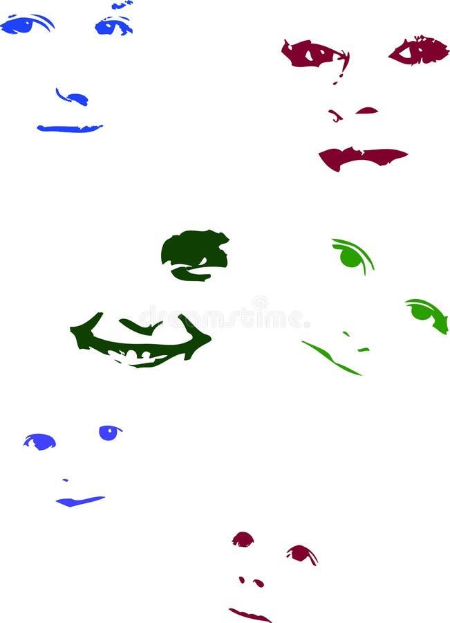 Caras de los niños libre illustration