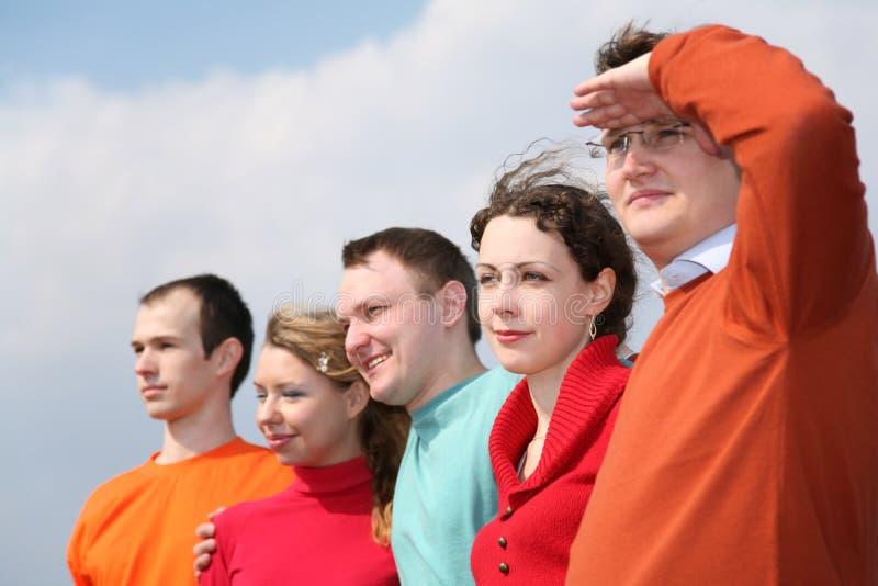 Caras del grupo de la gente imágenes de archivo libres de regalías