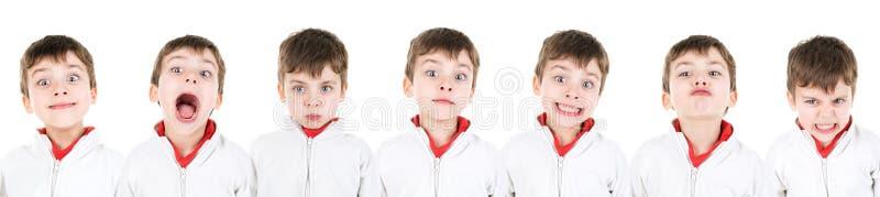 Caras del muchacho fotos de archivo