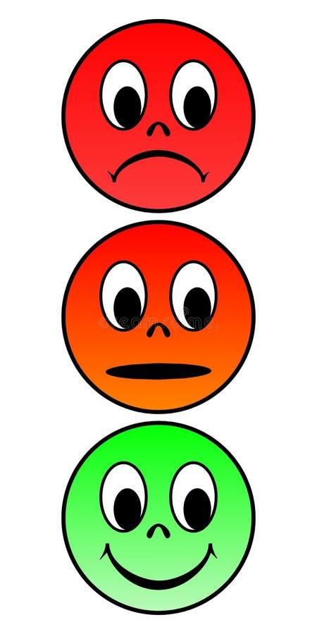 Caras del semáforo stock de ilustración