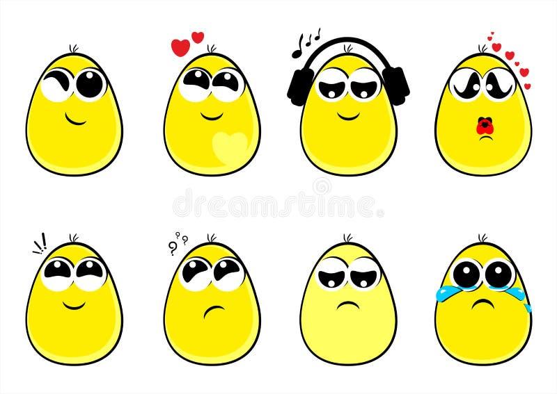 Caras divertidas de los huevos, emoción, sonrisas, emoticons libre illustration