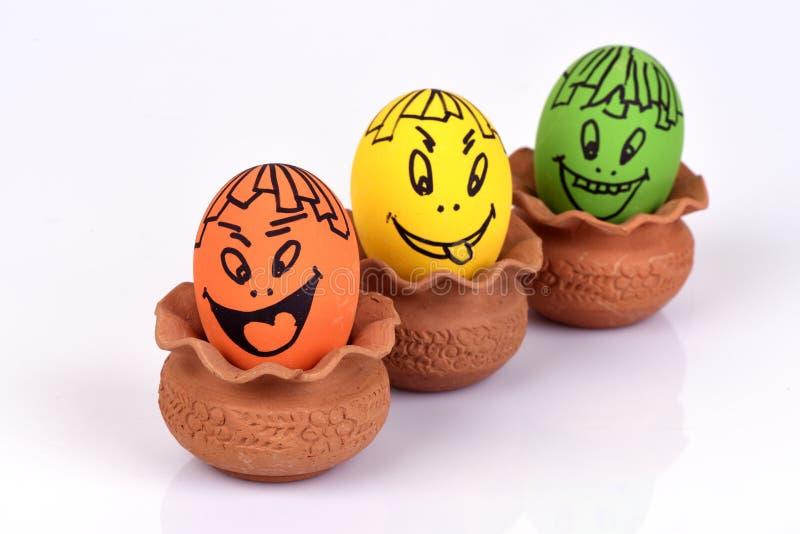 Caras dos ovos fotos de stock royalty free
