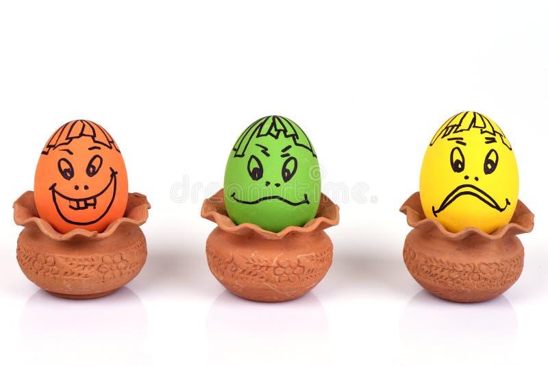 Caras dos ovos ilustração do vetor