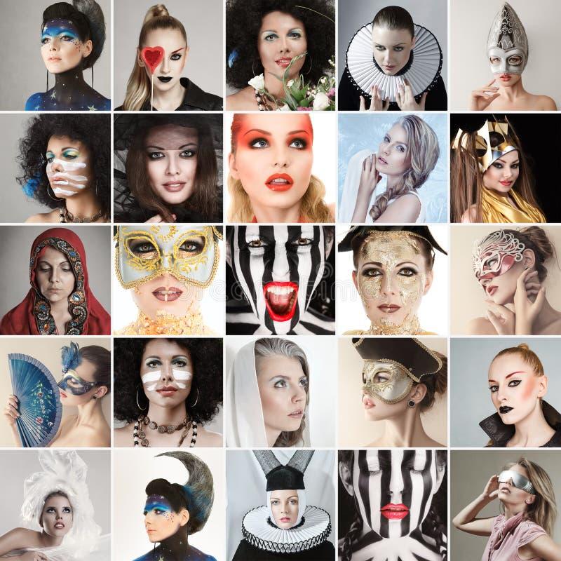 Caras dos povos fotografia de stock