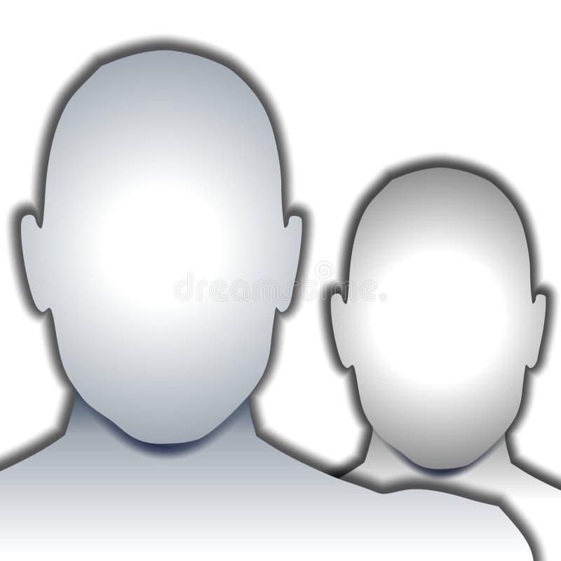 Caras en blanco anónimas stock de ilustración