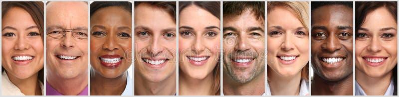 Caras felices de la gente foto de archivo