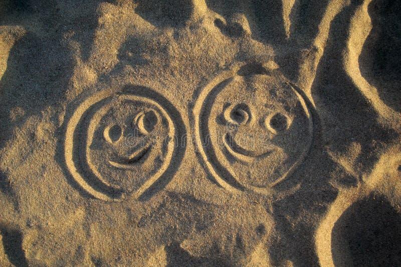 Caras sonrientes imagenes de archivo