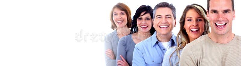 Caras sonrientes de la gente fotos de archivo