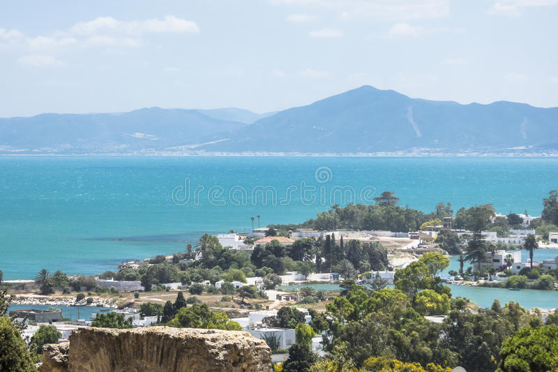 Caratagina and view on Tunis royalty free stock photography
