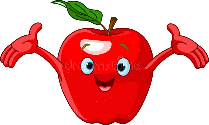 Carattere allegro del Apple del fumetto royalty illustrazione gratis