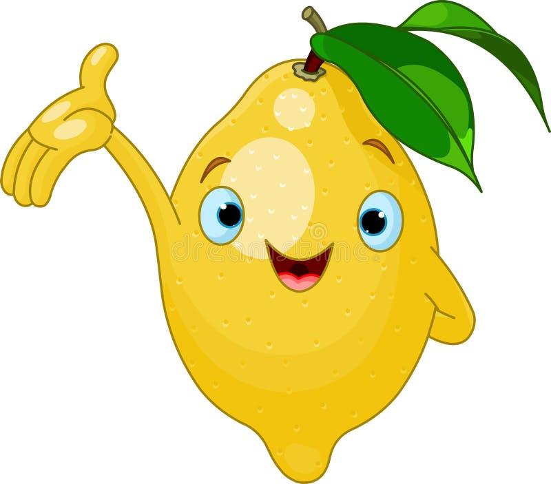 Carattere allegro del limone del fumetto illustrazione di stock