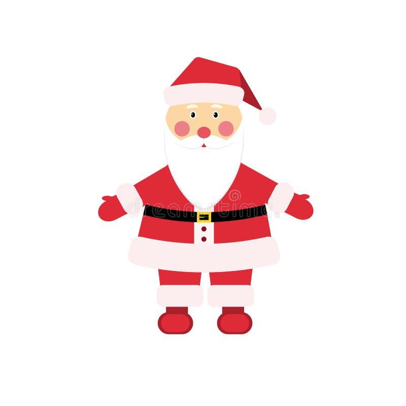 Carattere caro Santa Claus di Natale dentro illustrazione di stock