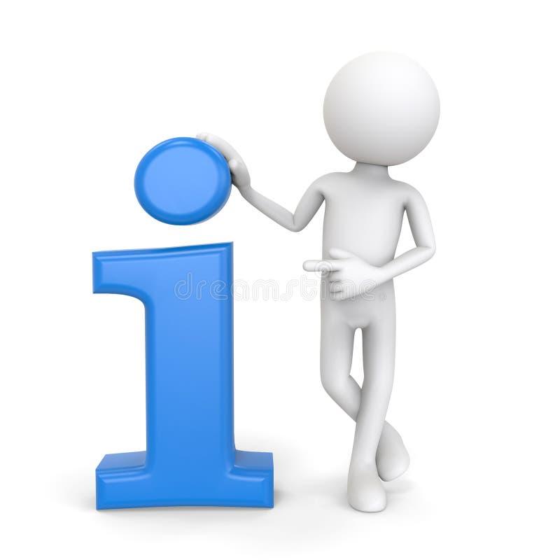 carattere 3d con l'icona di informazioni illustrazione di stock