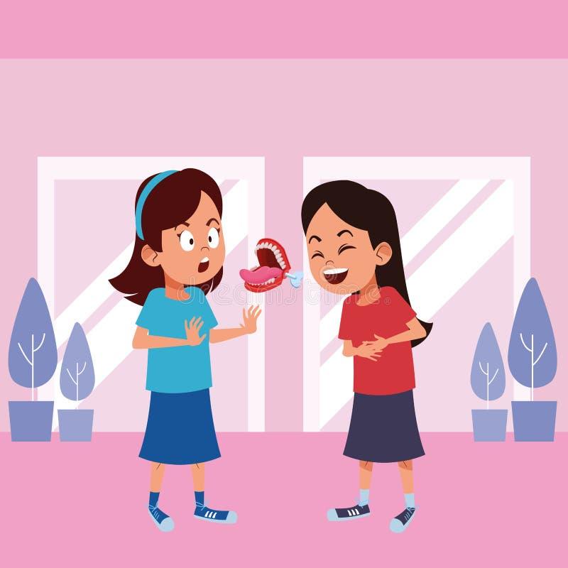 Carattere del cartone dell'avatar dei ragazzini royalty illustrazione gratis