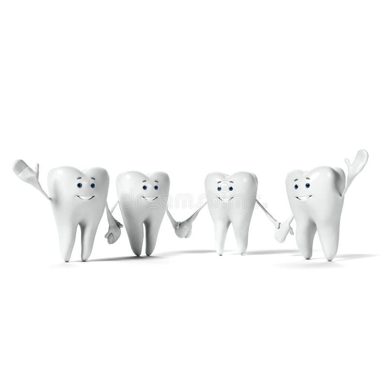 Carattere del dente illustrazione vettoriale