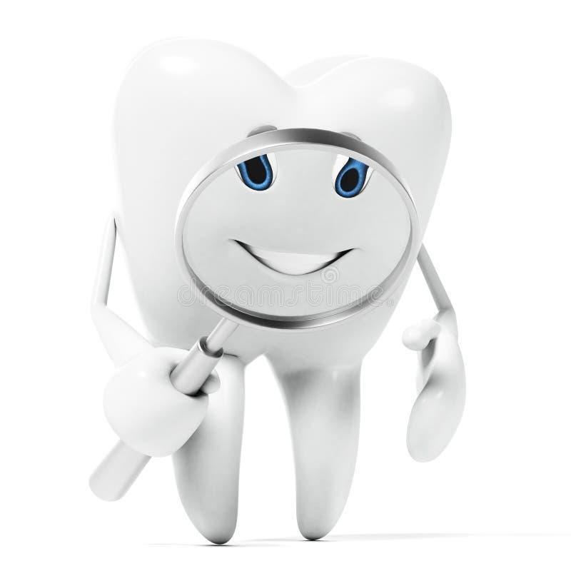 Carattere del dente royalty illustrazione gratis