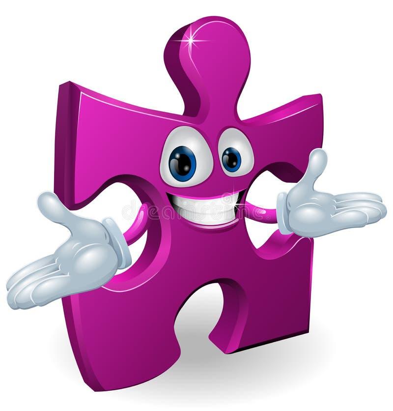 Carattere del puzzle royalty illustrazione gratis