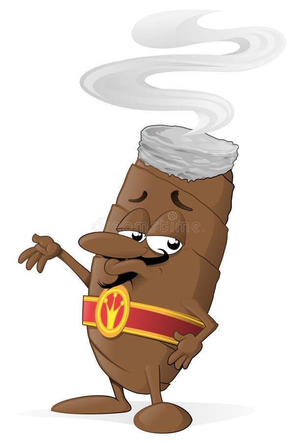 Carattere del sigaro del fumetto illustrazione di stock