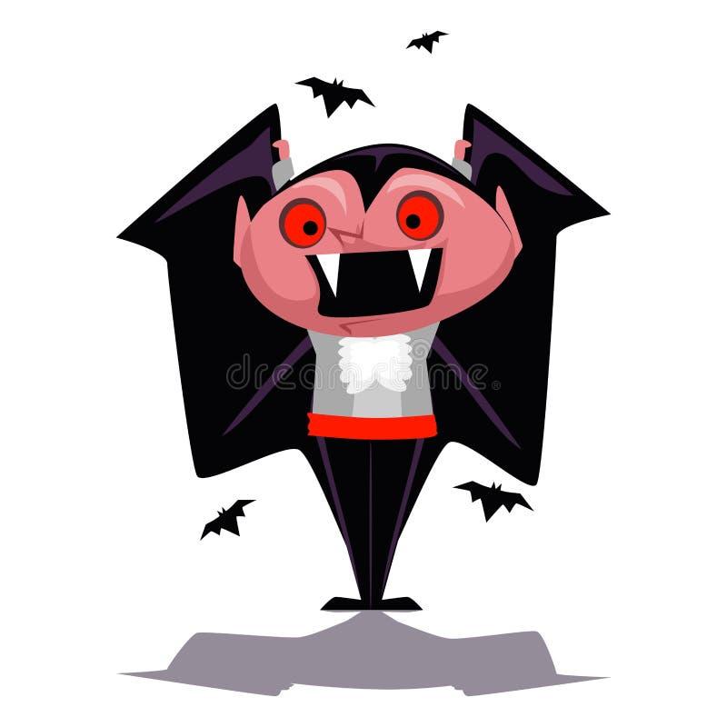Carattere del vampiro del fumetto royalty illustrazione gratis