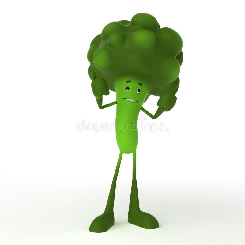 Carattere dell'alimento - broccolo illustrazione di stock