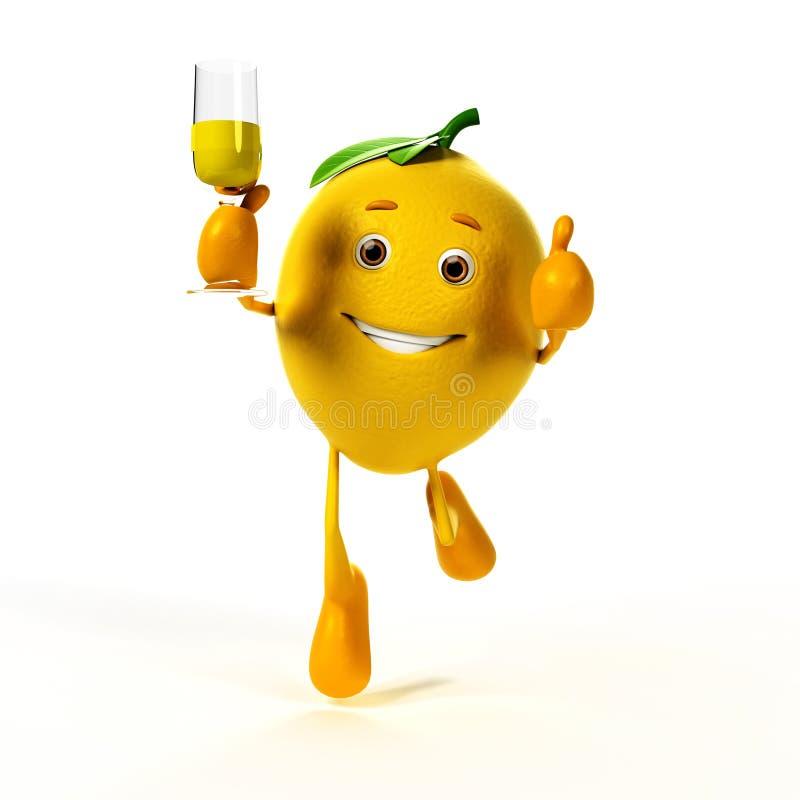 Carattere dell'alimento - limone royalty illustrazione gratis