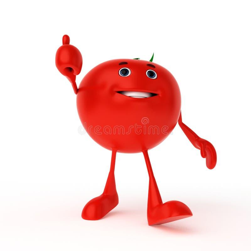 Carattere dell'alimento - pomodoro illustrazione di stock
