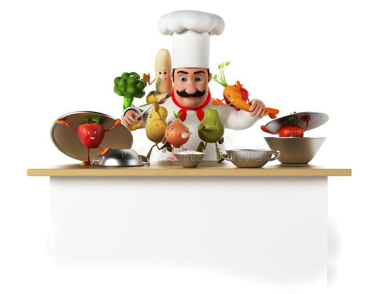 Carattere dell'alimento - verdure royalty illustrazione gratis