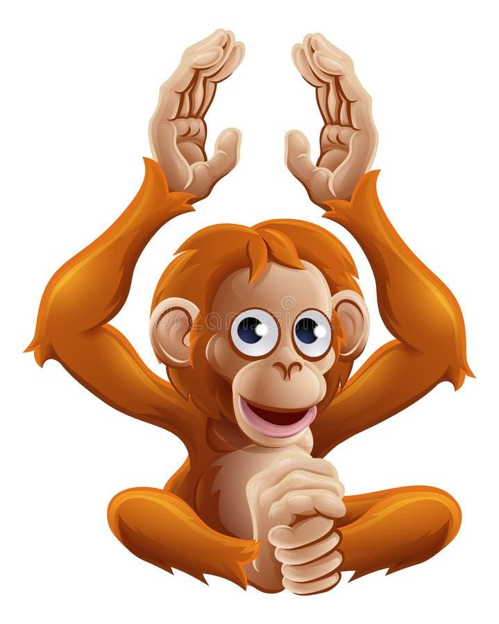 Carattere dell'animale dell'orangutan del fumetto illustrazione vettoriale