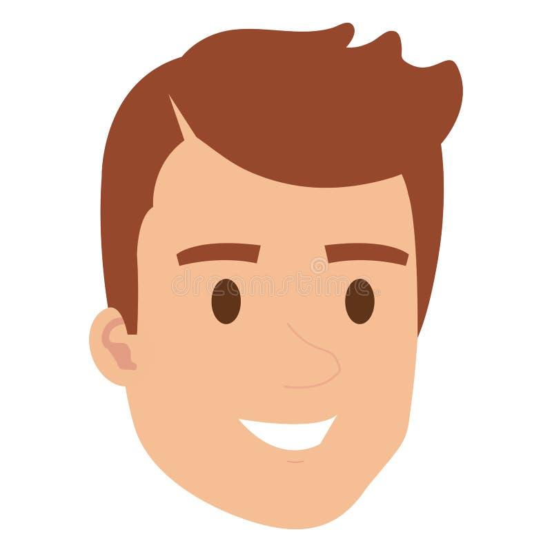 Carattere dell'avatar della testa del giovane illustrazione vettoriale