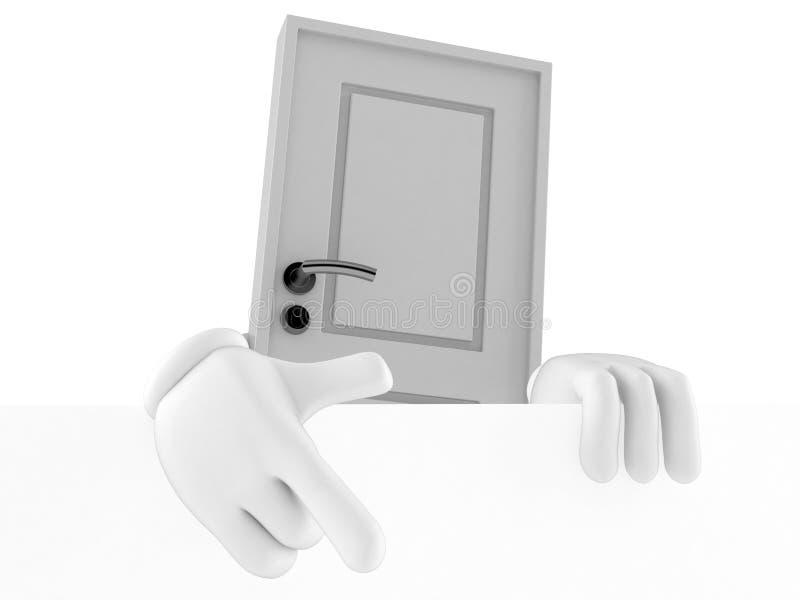 Carattere della porta dietro la parete bianca illustrazione vettoriale