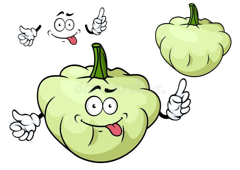 Carattere della verdura della zucca pattypan del fumetto illustrazione di stock