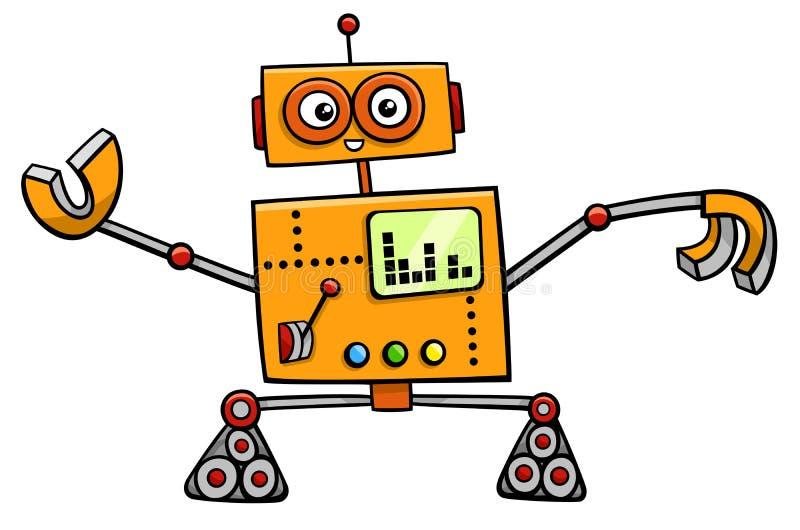 Carattere di fantasia del fumetto del robot illustrazione vettoriale