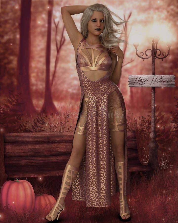 Carattere di fantasia dell'inseguitore di notte di CG royalty illustrazione gratis