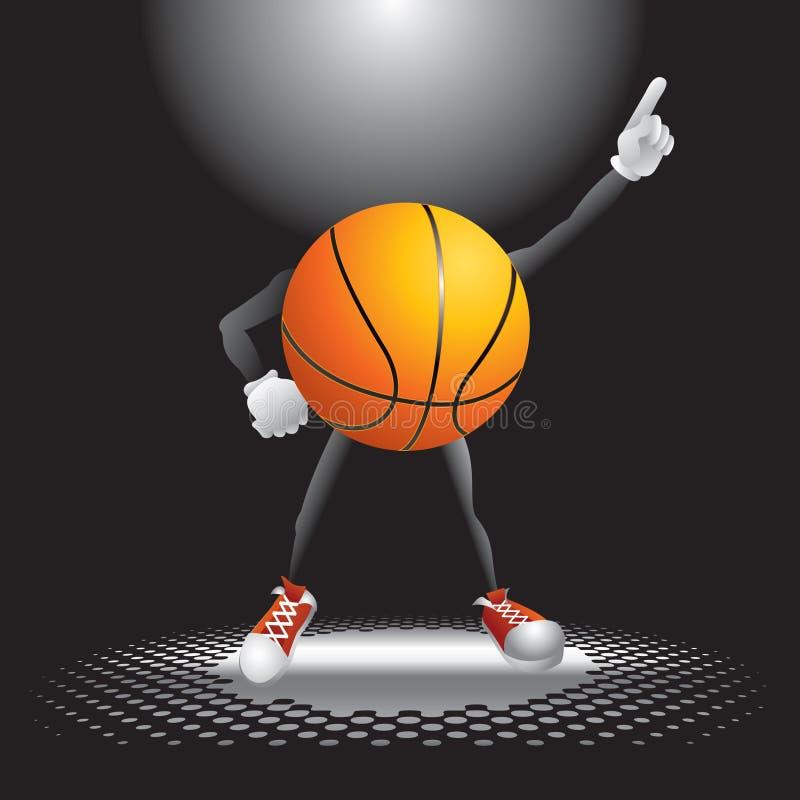 Carattere di pallacanestro sulla pista da ballo royalty illustrazione gratis