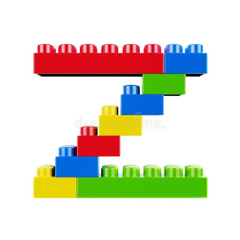 Carattere di plastica di alfabeto della fonte di Z royalty illustrazione gratis