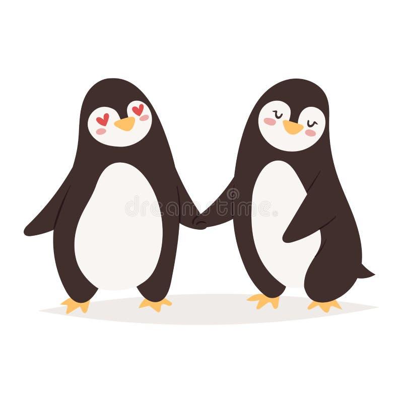 Carattere di vettore del pinguino illustrazione vettoriale