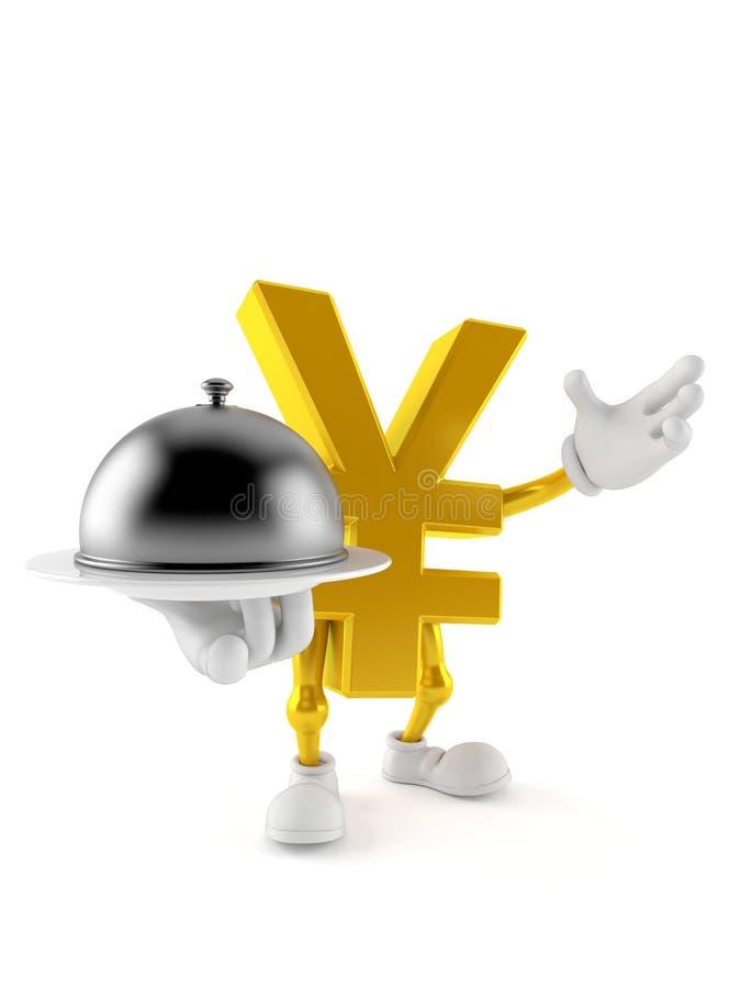 Carattere di Yen che tiene la cupola di approvvigionamento royalty illustrazione gratis