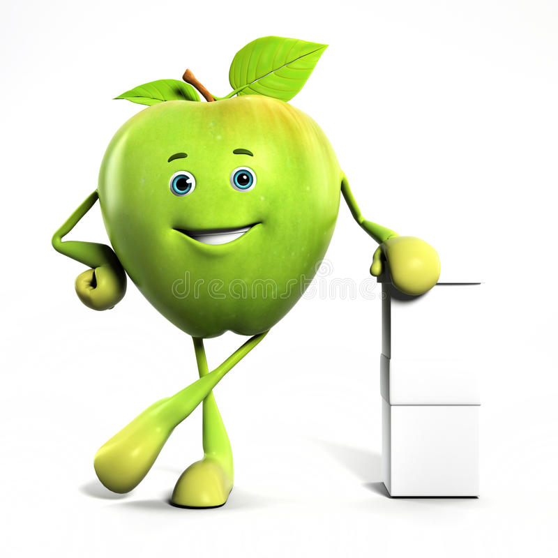 Carattere divertente della mela illustrazione vettoriale
