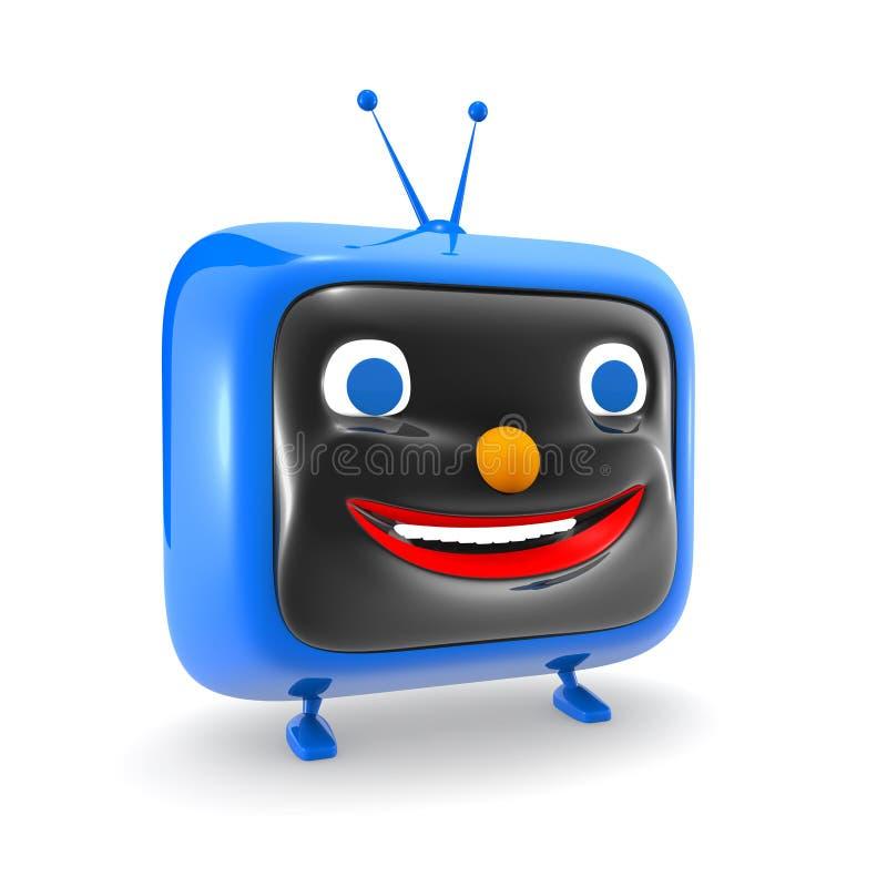 Carattere divertente della TV illustrazione di stock