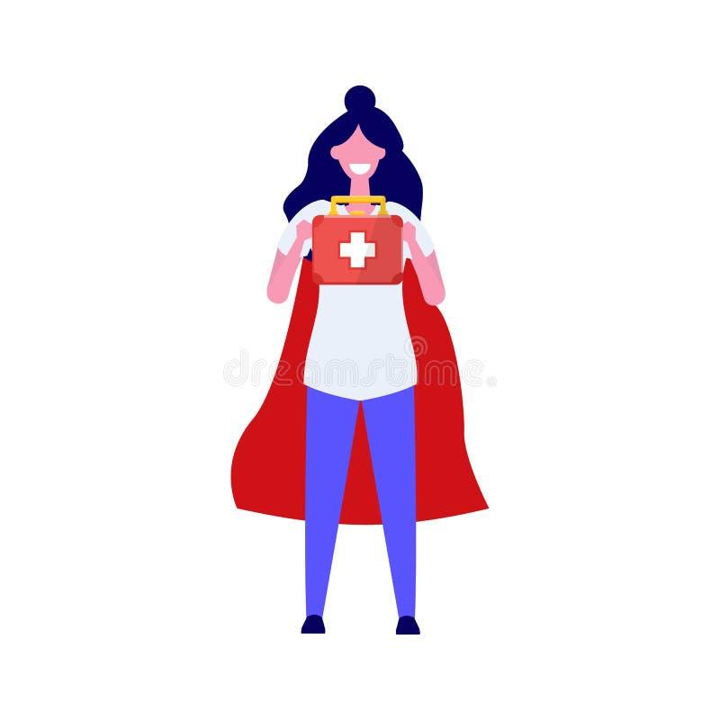 Carattere eccellente di medico Illustrazione professionale di vettore royalty illustrazione gratis