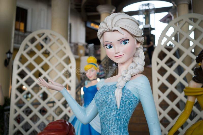 Carattere Elsa di Walt Disney la regina della neve immagini stock libere da diritti