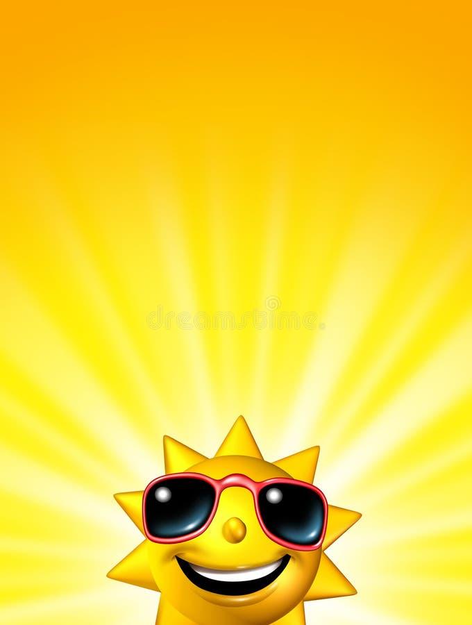 Carattere felice di Sun di alba illustrazione di stock