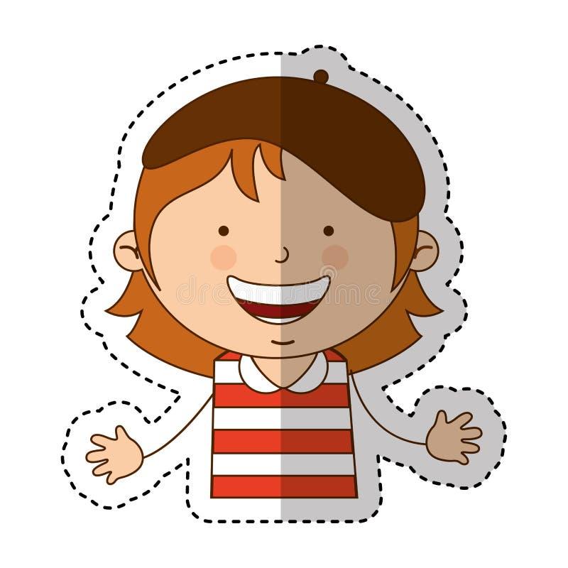Carattere francese della bambina royalty illustrazione gratis