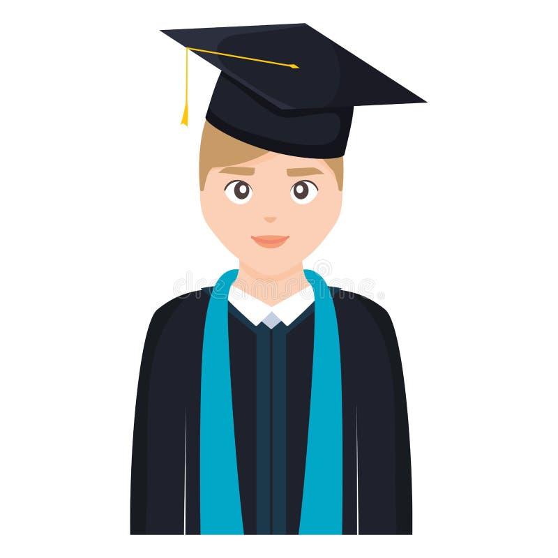 Carattere graduato del giovane studente illustrazione di stock