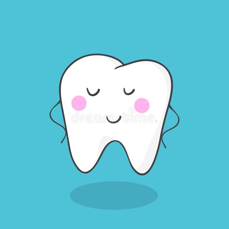Carattere molare sano sorridente sveglio del dente illustrazione vettoriale