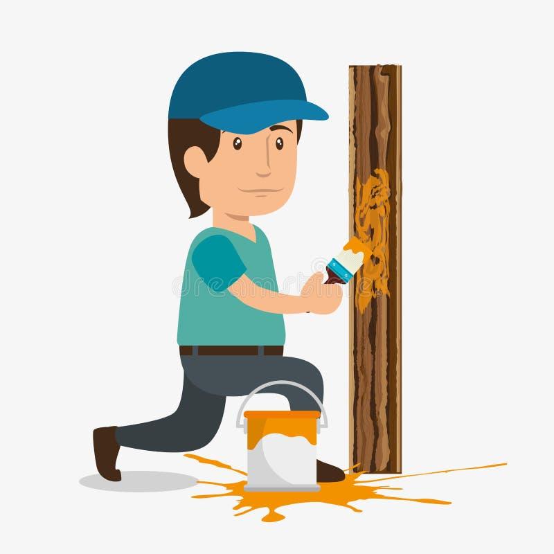 Carattere professionale dell'avatar della costruzione royalty illustrazione gratis