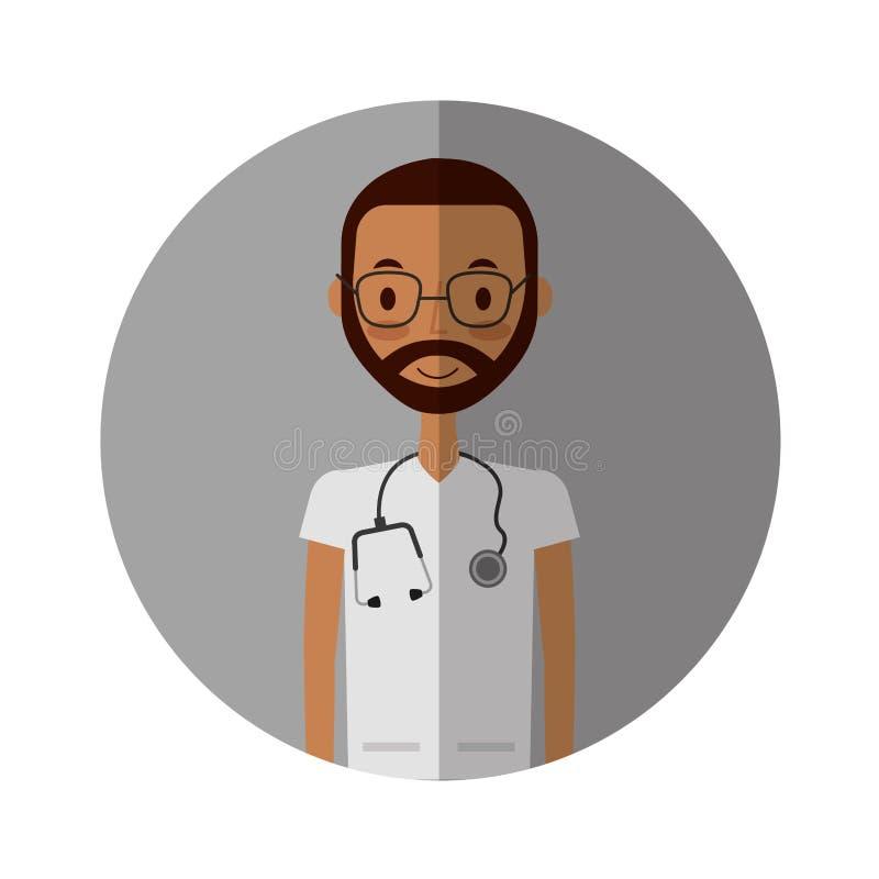 Carattere professionale dell'avatar di medico royalty illustrazione gratis